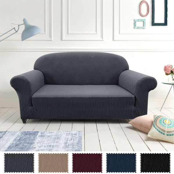 Loveseat Sofa Slipcover Stretch Soft Spandex Fabric Furniture Protector Cover $15.99