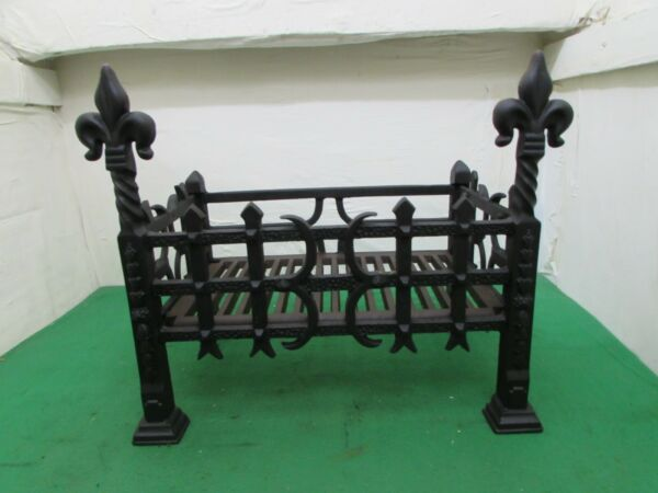 Antique Cast Iron Fire Grate Flat packed For Post