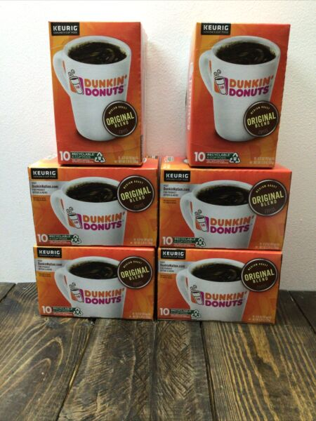 Keurig K Cups Dunkin Donuts 60 Pods 6 Boxes X 10 Pods NEW READ