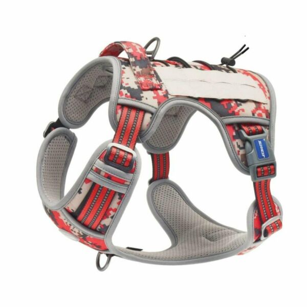Auroth Dog Harness Tactical amp; Training Reflect Harness Red Camouflage