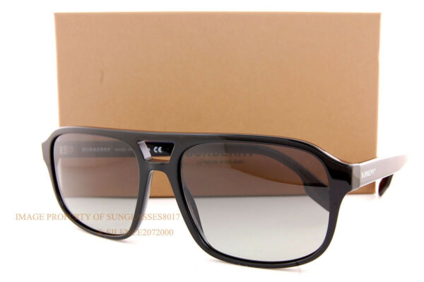 Brand New Burberry Sunglasses BE 4320 300111 Francis Black Grey Gradient For Men $159.99