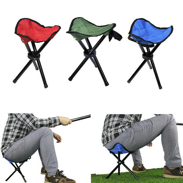 S Size 14quot; Folding Chair Tripod Camping Fishing Stool Portable Lightweight Trave