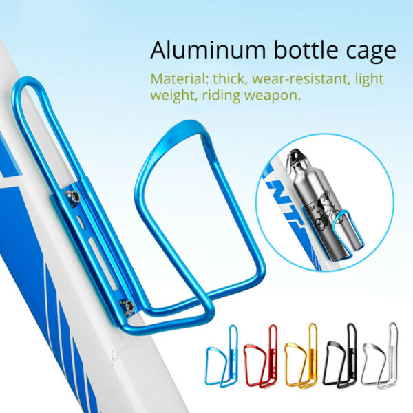 Aluminum Bike Bottle Cage Cycling Water Cup Holder For MTB Bicycle Rack Bracket $5.50