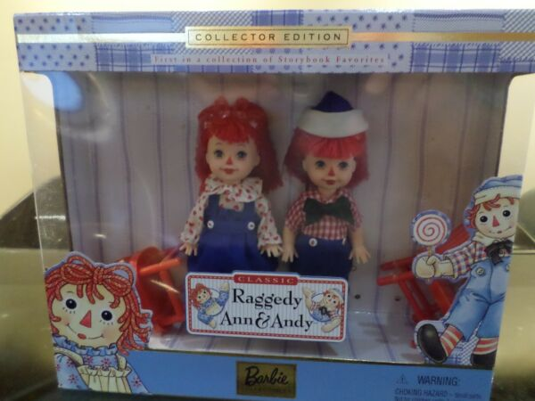 Barbie Collectors dolls Tommy and Kelly as Raggedy Ann and Andy COA included $19.99