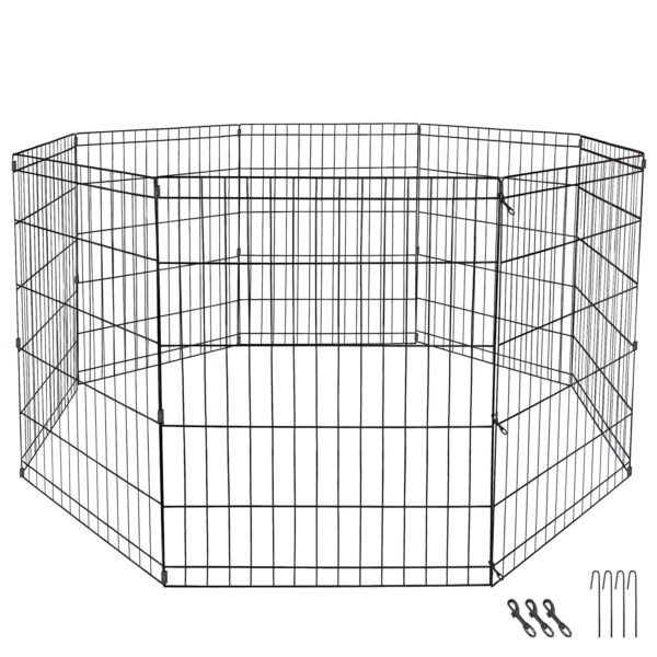 30quot; Tall 8 Panels DIY Dog Playpen Large Crate Fence Pet Play Pen Exercise Play