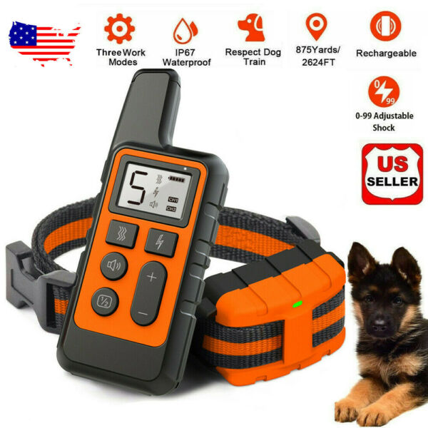 2600 FT Remote Dog Shock Training Collar Rechargeable Waterproof LCD Pet Trainer $23.99