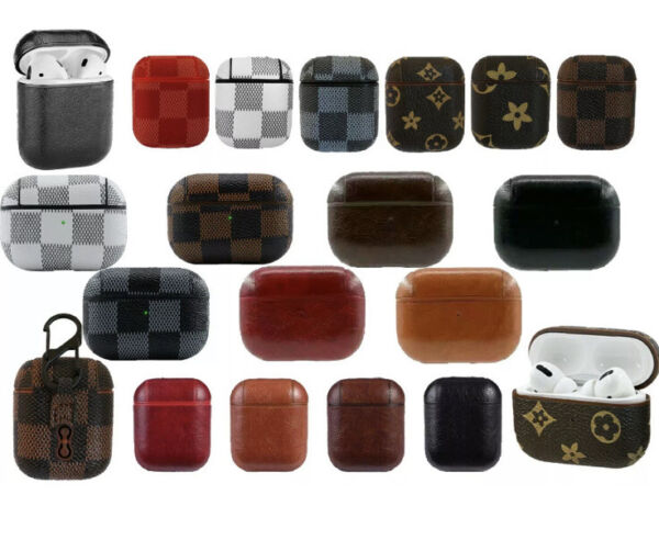 Luxury AirPods Case Leather Protective Design Cover For AirPod Earphone Pro amp;1 2 $7.99