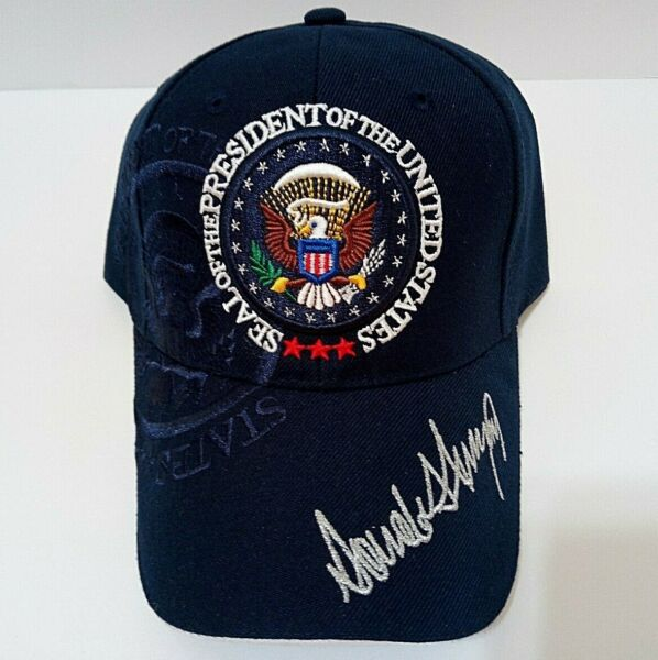MAGA 45th President Donald Trump Seal Make America Great Again Hat Navy Blue $14.99