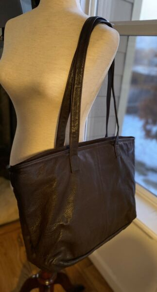 Canyon Outback 2O inch Tote Bag Purse Full Grain Brown Cowhide Leather Mint $60.00