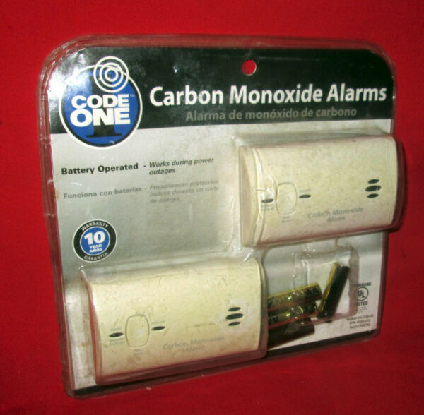 2 New in Sealed Package Code One Carbon Monoxide Alarms $26.00