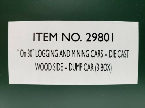 New Narrow Gauge Logging and Mining Cars Die Cast Wood Side Dump Cars 3 Box