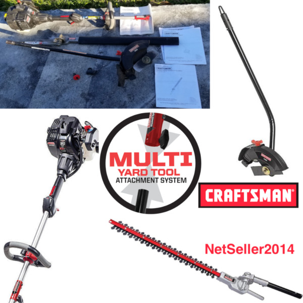🔥 Craftsman Gas 27cc Trimmer Tool Set With Hedge 22quot; Trimmer amp; Edger Attachment