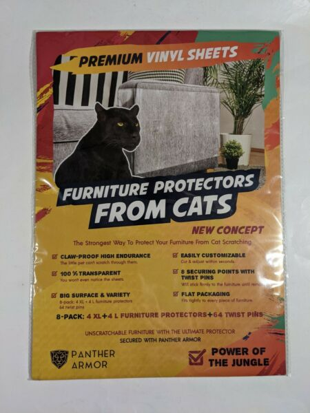 ✰Panther Armor Furniture Protectors From Cats Premium Vinyl Sheets New✰ $16.99