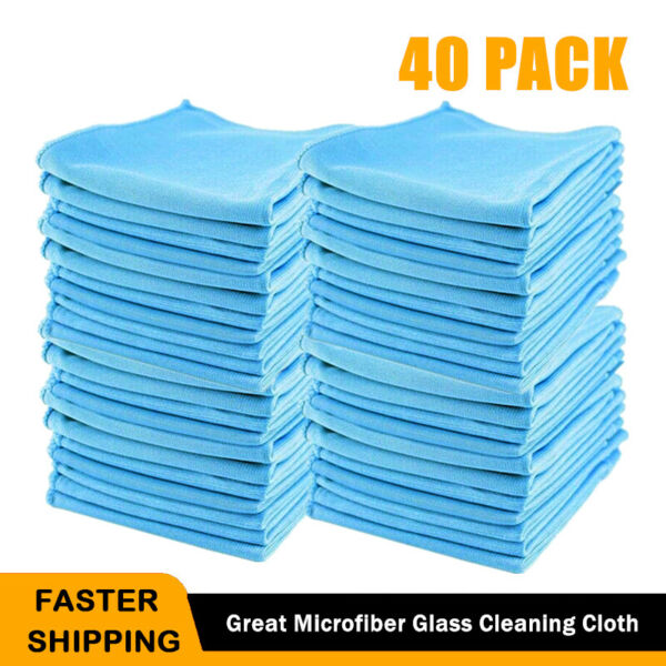 Microfiber Car Cleaning Towel Lint Free 12 x 12 Detailing Polishing Cloth Rag $39.99
