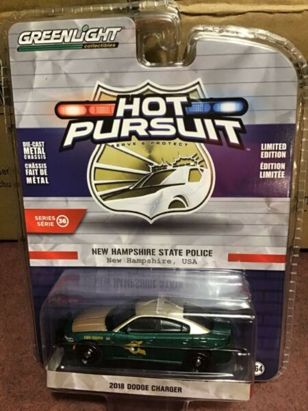 Greenlight Hot Pursuit 2018 Dodge Charger New Hampshire State Police $5.80