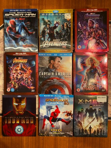 Marvel Blu ray SLIPCOVERS ONLY You Pick $6.99