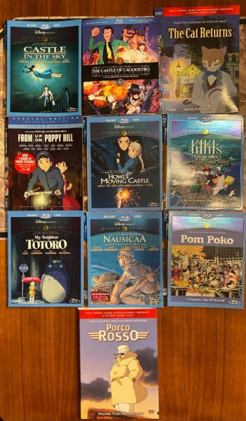 Studio Ghibli Hayao Miyazaki Blu ray and DVD SLIPCOVERS ONLY You Pick $6.99