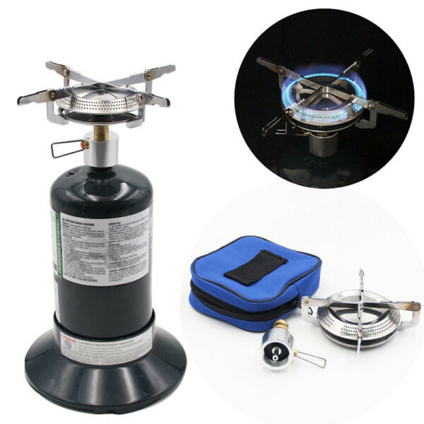 Outdoor Camping Propane Gas Stove Portable Mini Picnic Cooking Burner BBQ Grill