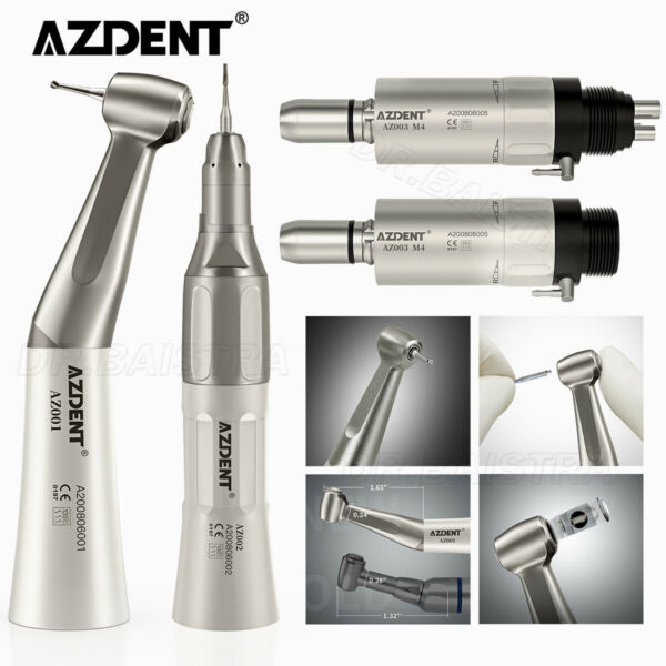 NSK Style Dental Slow Low Speed Handpiece Straight Contra Angle Air Motor 2 4H $58.99