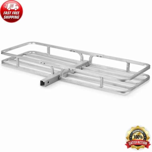 Hitch Mount Cargo Carrier Aluminum Luggage 2quot; Receiver Rack Hauler 500 lbs Class $100.91