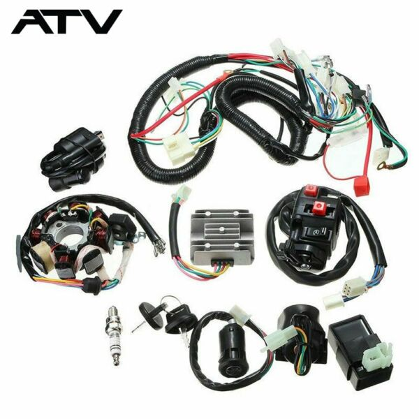 Electric Wiring Harness Wire Loom CDI Stator Kit for ATV QUAD 150CC 200CC 250CC $49.99