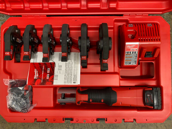 Milwaukee M18 FORCE LOGIC Press Tool Kit with 6 Jaws 1 2quot; 2quot; 2773 22 $2595.00