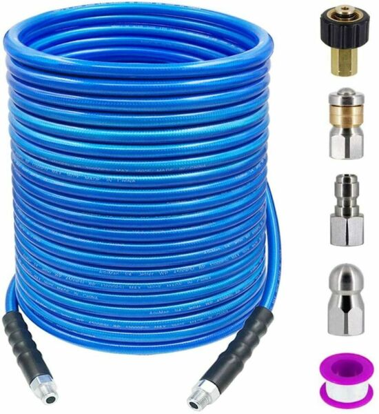 Pressure Water Kit Rotating Sewer Jetting Nozzle Hose Hydro Drain Jetter Tool US $76.13