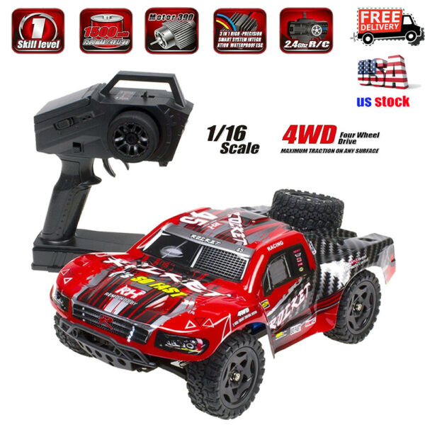 REMO 1621 1 16 4WD RC Truck Car 4x4 Electric Brushed Short Course SUV 50km h $68.98