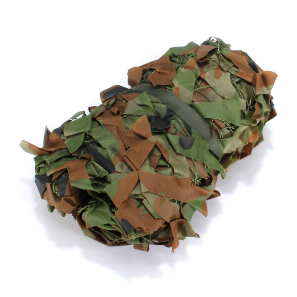 6.5ft Camo Netting Woodland Military Camouflage Mesh Netting for Camping Hunting