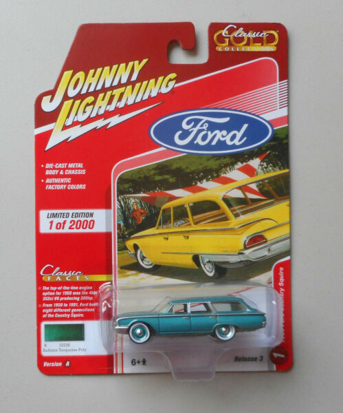 1960 Sultana Turquoise Ford Country Squire JOHNNY LIGHTNING DIE CAST 1:64