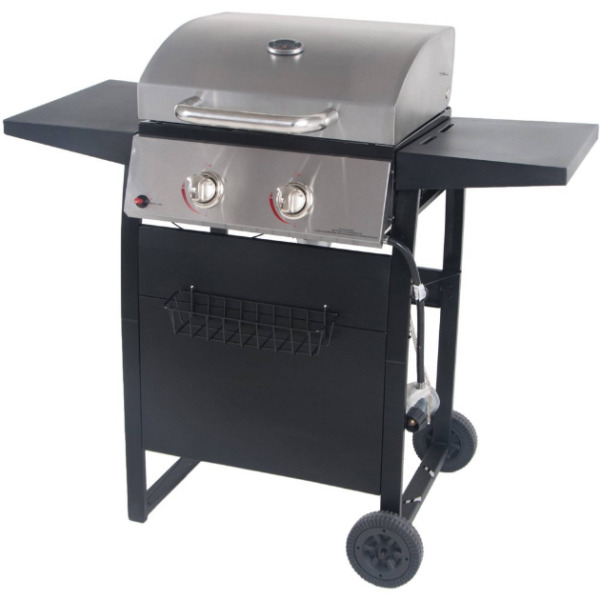 RevoAce 2 Burner Space Saver Gas Grill Stainless and Black GBC1705WV
