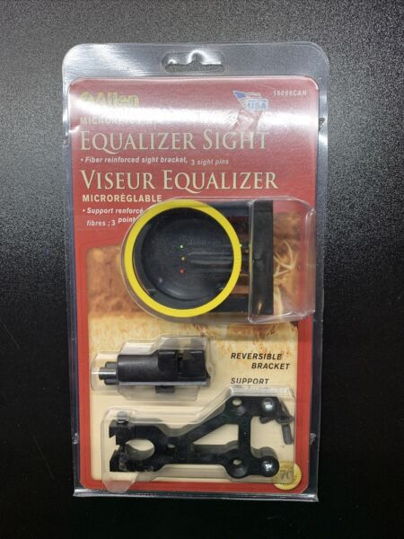 Allen 3 Bow Sight Pin Reversable Bracket Microadjustable Equalizer #15098CAN $9.29