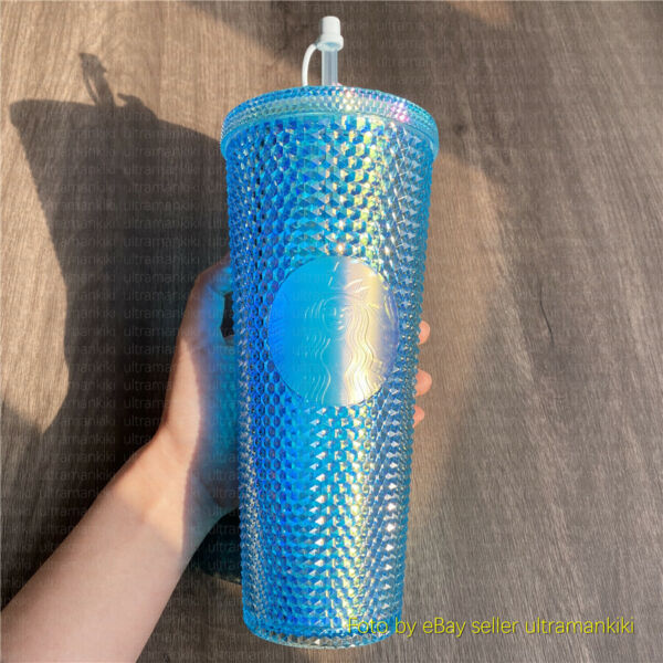 Starbucks Tumbler China Blue Mid Autumn Festival studded 24oz Cold water cup