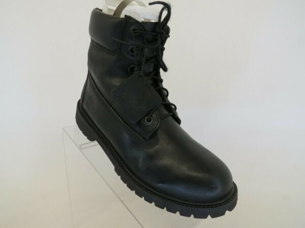 Timberland Black Leather Lace Up Causal Ankle Boots Men Size 6.5 $77.99