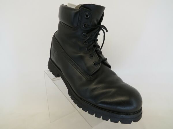 Timberland Black Leather Lace Up Causal Ankle Boots Men Size 11 M $82.99