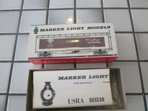 marker light models ILLINOIS CENTRAL wood box car kit HO scale $14.90