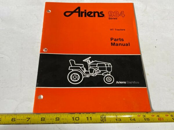 Vintage Ariens Parts Manual 934 Series HT Tractors 9 87