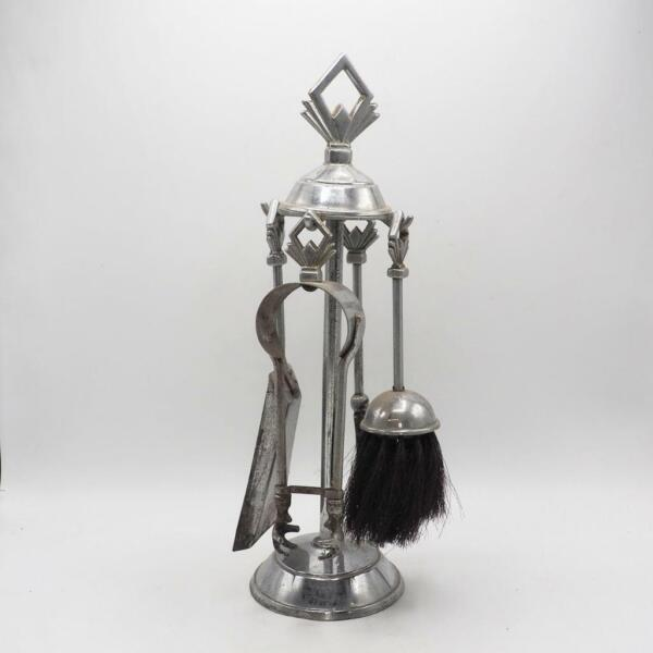 Vintage Small Fireplace Tools Set Poker Spade Tongs Stand