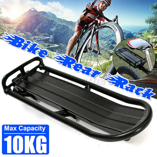 Universal Back Rear Bicycle Rack Aluminum Bike Cycling Cargo Luggage Carrier $19.52