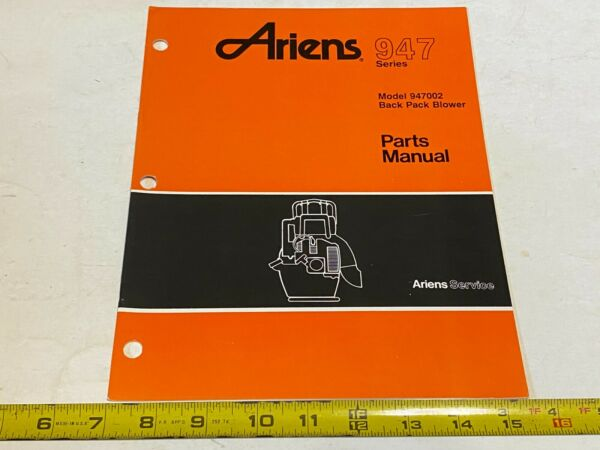Vintage Ariens Parts Manual 947 Series Model 947002 Back Pack Blower 3 90