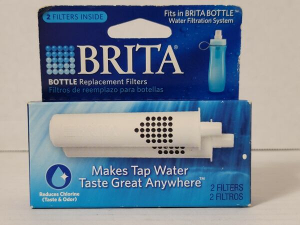 Genuine Brita Water Bottle Replacement Filters BB02 2 Pack NEW