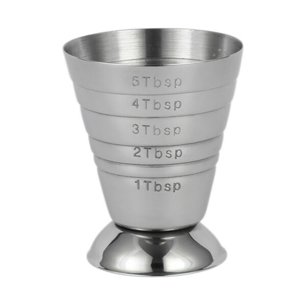 75ML Stainless Spirit Cocktails Measure Cup Jigger Alcohol Bartending Wine YF