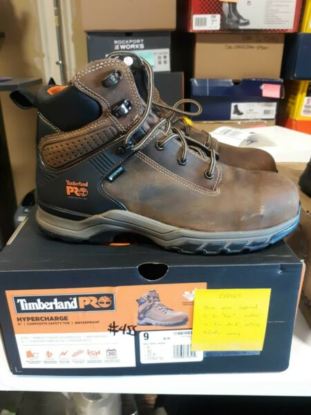 Men#x27;s Timberland PRO 6quot; Hypercharge CT WP Boots 9 M FREE SHIPPING #455 $149.99