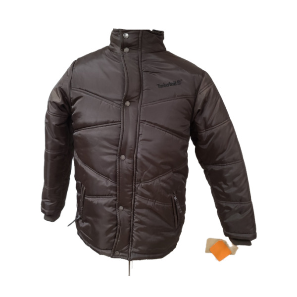 TIMBERLAND NEW Mens Quilted Puffer Jacket Size Large Brown Polyester $29.98