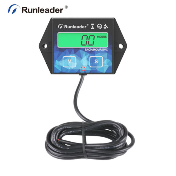 Self Powered Maintenance Hour Meter Real Time RPM for Mower Motorcycle Chainsaw
