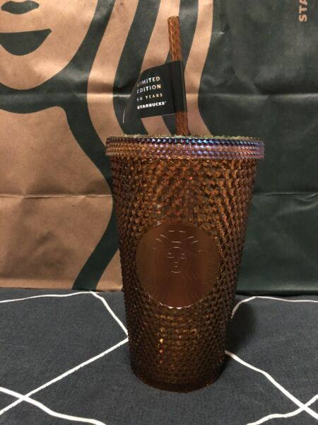 Starbucks 50th Anniversary Limited Edition Honeycomb Grande Cold Cup 🟢NEW🟢