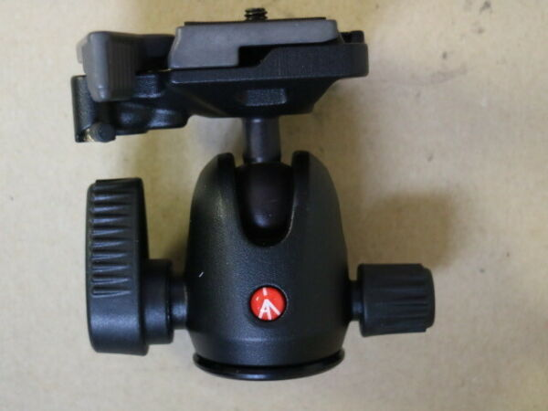 Manfrotto 494 Mini Ball Tripod Head with RC2 Quick Release Plate 17.6 lb Load