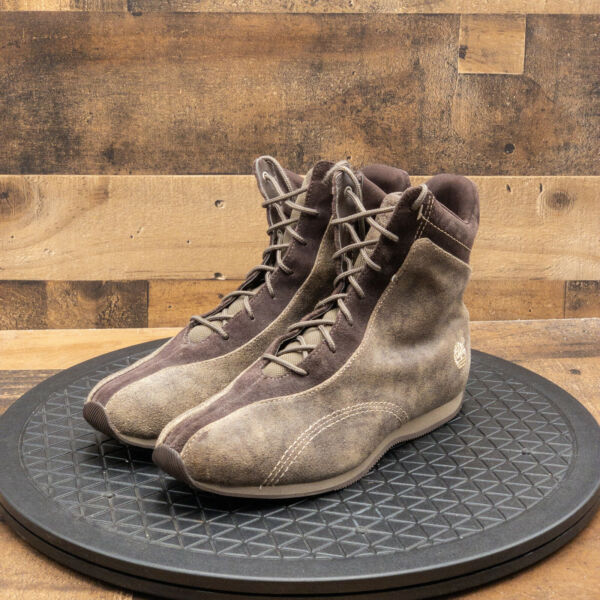 Timberland Womens Boots Light Brown Suede Lace Up Outdoor Casual Size 7.5M $35.77