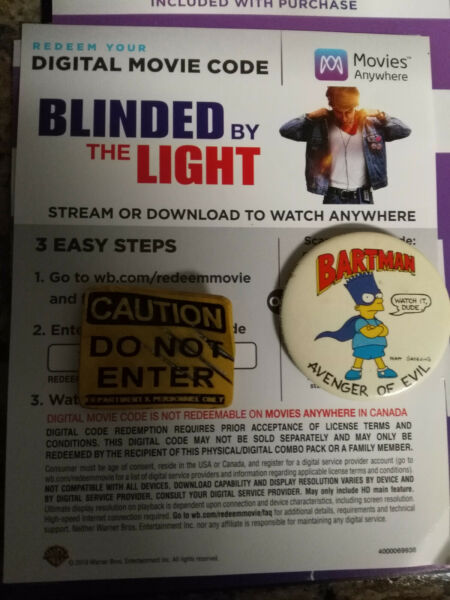 Blinded By The Light movie code