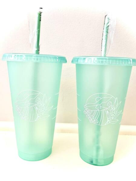 BRAND NEW Starbucks Spring 2021 Earth Day Cold Cup Venti Set of 2